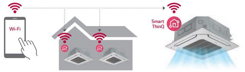 LG Standard Inverter CB09L - łączność przez Wi-Fi