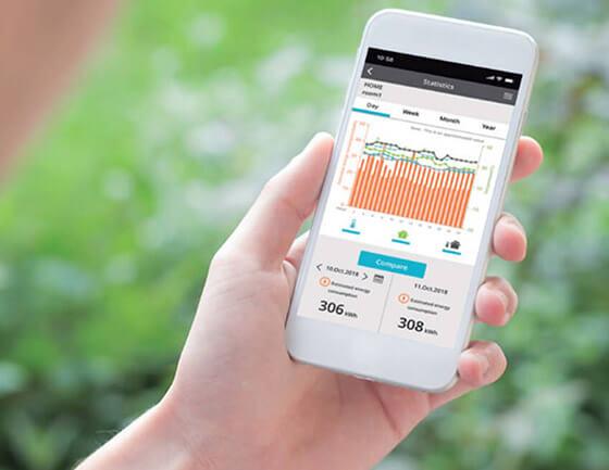 Panasonic Etherea KIT-TZ sterowanie Wi-Fi