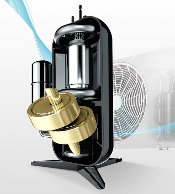 Sprężarka w klimatyzatorze LG Artcool Silver AC09SQ 2,5 kW