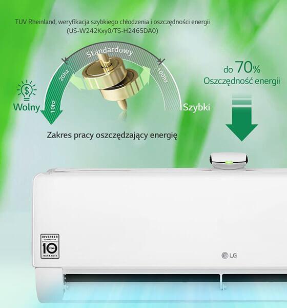 Cicha praca klimatyzatora LG Artcool Mirror AC18BQ 5,0 kW