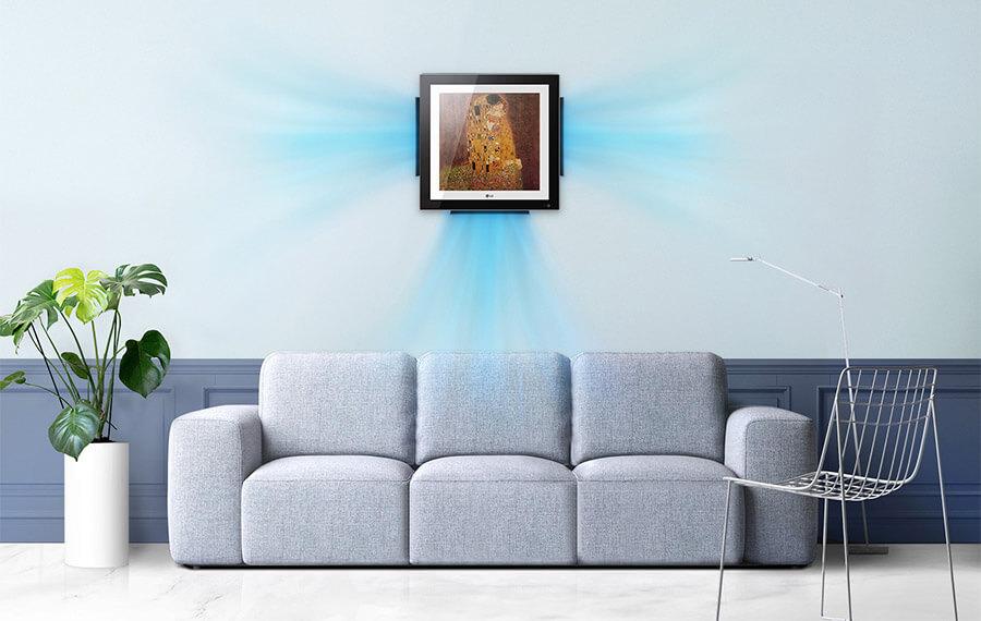 Aranżacja klimatyzatora LG Artcool Gallery A09FT 2,5 kW