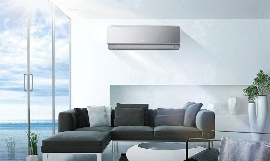 Aranżacja klimatyzatora LG Artcool Silver AC09SQ 2,5 kW