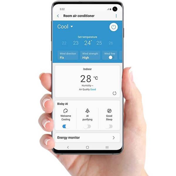 Aplikacja SmartThings w Samsung CEBU 2,5 kW