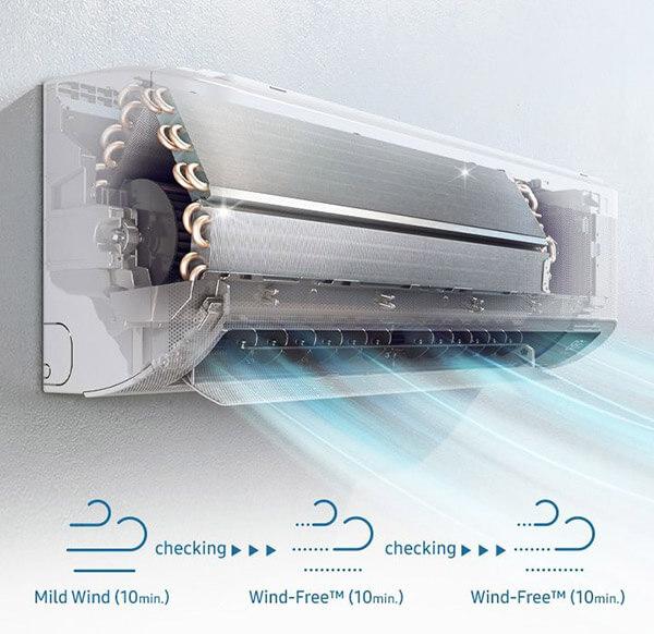 Automatyczne czyszczenie w Samsung CEBU 2,5 kW