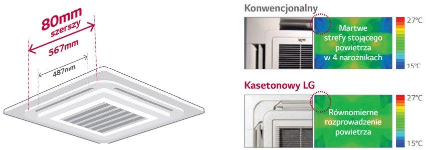 LG Standard Inverter szeroki nawiew powietrza